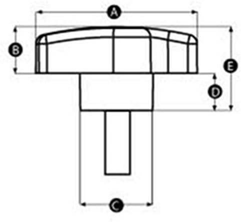 2x Offset Fl/ügelknopf M8 x 30 R/ändelschraube Mutter Jigs/äge Router Kameraschleifer