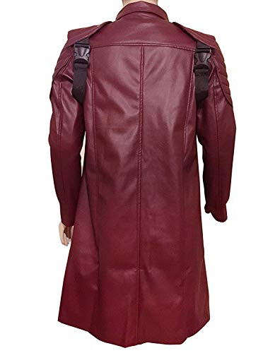Devil May Cry 5 DMC Dante Faux Leather Jacket (M) Maroon (Dmc Dante Coat)