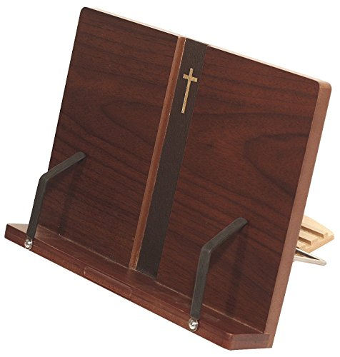 MDF Wood Portable Reading Bible Book Stand Dark Brown (Bookstand / iPad Stand / Bible / Cookbook / Music)