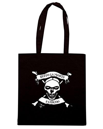 T-Shirtshock - Bolsa para la compra T0105 beffo la morte e ghigno militari Negro