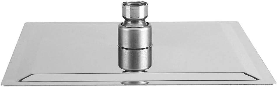 Spruzzatore Superiore con soffione Quadrato in Acciaio Inossidabile Soffione Doccia