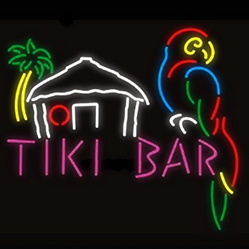 Tiki Bar Parrot House Real Glass Beer Bar Pub Store Party Room Wall Window Display Neon Signs 19×15