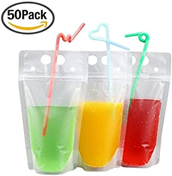 Amazon.com: 50 unidades pajitas de beber Bolsas con ...