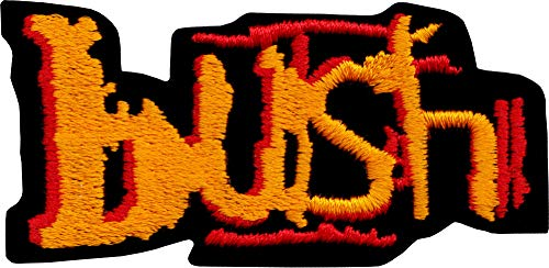 Square Deal Recordings and Supplies Bush - Embroidered Iron On or Sew On Patch, Multicolor, 2