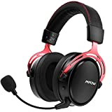 Mpow 2.4G Wireless Gaming Headset with Double Chamber Drivers, 17-hour of Wireless Use, Noise Cancelling Microphone,Memory Foam Gaming Headphones - For PC and PS4 (Included 3.5.mm Cable)