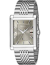 G-Timeless Rectangle Stainless Steel Men's Watch(Model:YA138402)