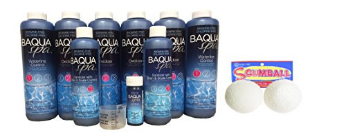 (Baqua Spa Bundle for Large Spas with Scumballs)