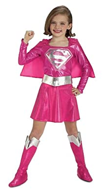 Pink Supergirl Childs Costume Small by Rubies