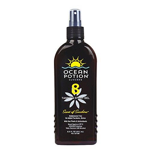 Ocean Potion SPF 8 Tanning Spray Gel, 8.5 Ounce
