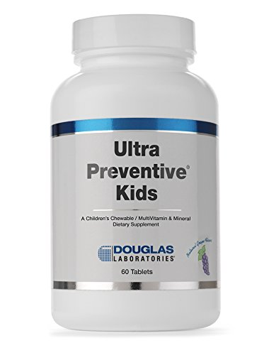 Douglas Laboratories - Ultra Preventive Kids - A Children's Chewable MultiVitamin & Mineral - Natural Grape Flavor - 60 Tablets