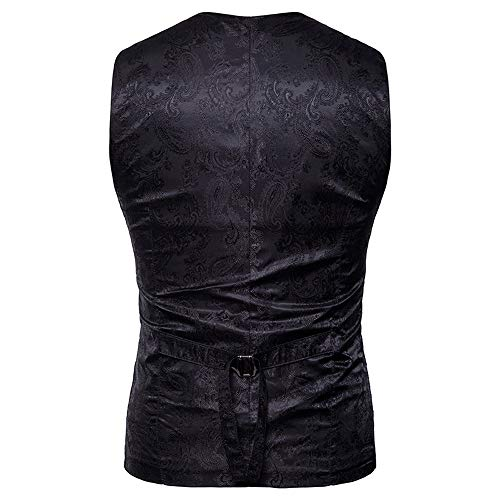 Mens Vest UJUNAOR Autumn Waistcoat Coat Black Top Double Gold Print Winter Breasted Fashion Jacket gw6zw5