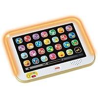 Fisher Price Ríe y Aprende Tablet de Aprendizaje Crece Conmigo, color Dorada