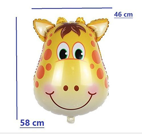 Safari Jungle Zoo Huge Animal head Balloon Jumbo Balloons Zebra, Tiger, Lions, Giraffe & Monkey with 20pcs 11'' latex Safari Print Party Supply foci cozi by foci cozi (Image #2)
