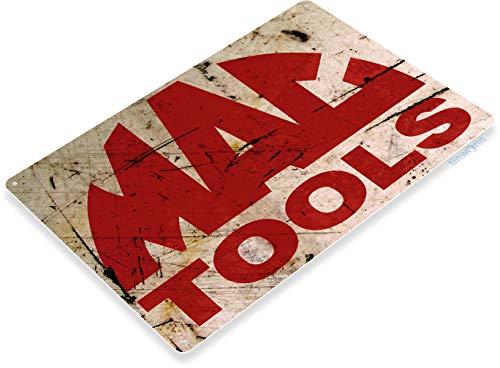 Tinworld Tin Sign Mac Tools Rust Rustic Auto Shop Metal Sign Decor Garage Cave B274 (Tools Clothing Mac)