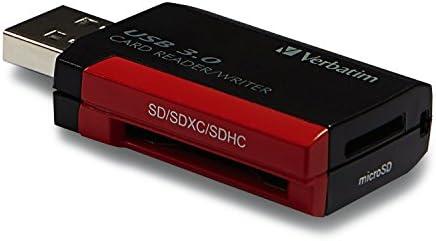 Windows//Mac Verbatim 97709 Pocket Card Reader Black USB 2.0