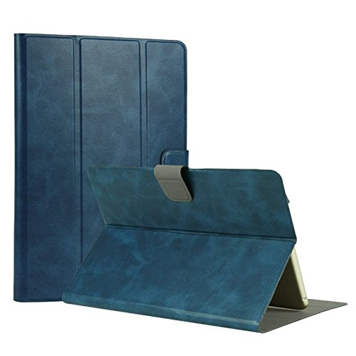 Universal Leather Stand Case Cover (Blue) - 9