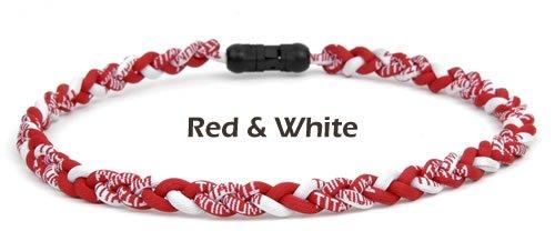 - Brett Bros Ionic Titanium Necklace Red & White Large