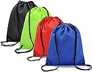GOOTRADES Unisex Nylon Drawstring Bag Travel Outdoor Backpack (Pack of 2)