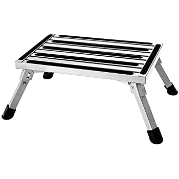 Aluminum Folding Platform Steps Rv Step Stool With Anti