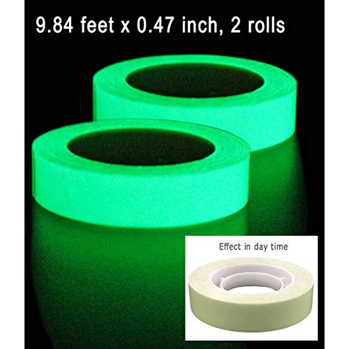 DUOFIRE 2Rolls Luminous Tape Sticker,9.84' Length x 0.47
