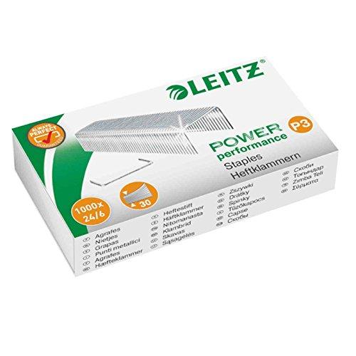 Esselte Leitz Heftklammer, 24/6 mm, verzinkt, 10.000 Stück (10 x 1000 Stück)