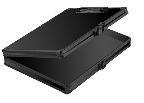 Recycled Aluminum Clipboard - Vaultz Locking Storage Clipboard, 2.15 x 12.75 x 9.75 Inches, Tactical Black (VZ03492)