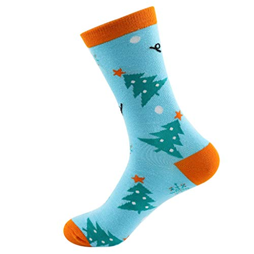 WoCoo Christamas Socks Clearance Holiday Fancy Elk Warm Stretchy Soft Crew ()