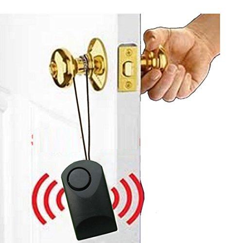 Portable Alarm Sensor Alarm Theft Scaring Alarm Door Alarm Door Handle Touch Alarm for Wood Door with Battery (Door Handle Alarm)