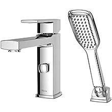 Pfister RT6-2DAC Deckard Single Control 2-Hole Roman Tub Faucet with Hand shower, Polished Chrome