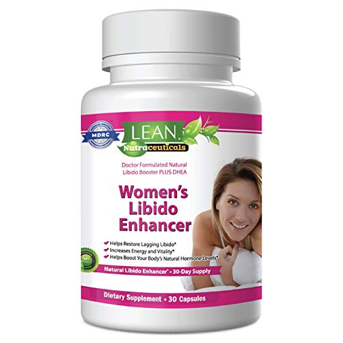 Lean Nutraceuticals Libido Enhancer for Women Md Formulated Libido Booster. Science Selected Ingredients Naturally Supplement and Boost, Women's Testosterone Booster Dhea, Horny Goat Weed 30 Caps