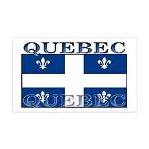 CafePress - Quebec Quebecer Flag Rectangle Sticker - Rectangle Bumper Sticker Car Decal