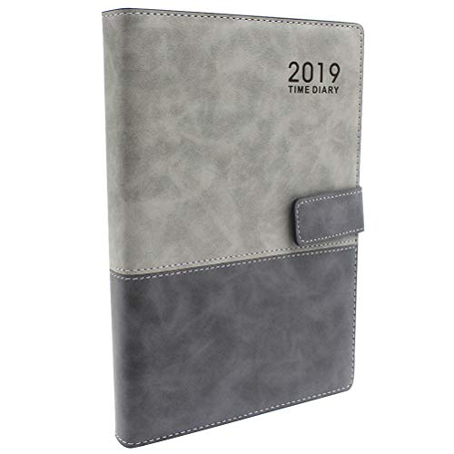 (Planner 2019 with Pen Holder, Academic Weekly Monthly Yearly Organizer Softcover PU Leather Personal Notebook with Magnetic Snap A5 Size 5.7