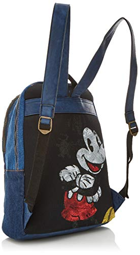 Desigual Bols Exotic Mickey Milan Women S Backpack Handbag Blue