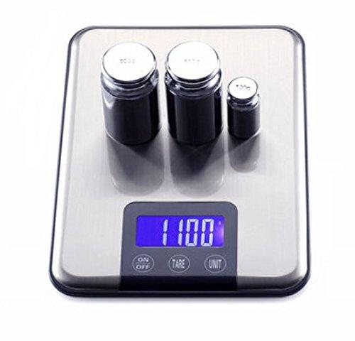 15kg 1G Slim acero inoxidable LCD digital equilibrio de peso escala de alimentos de cocina dieta G/kg/ML por shopidea