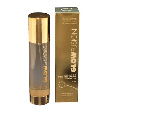 GlowFusion Micro-Nutrient Face and Body Natural Protein Tan, Light Formula, 5.0 Fluid Ounces (147.85ml) by GlowFusion