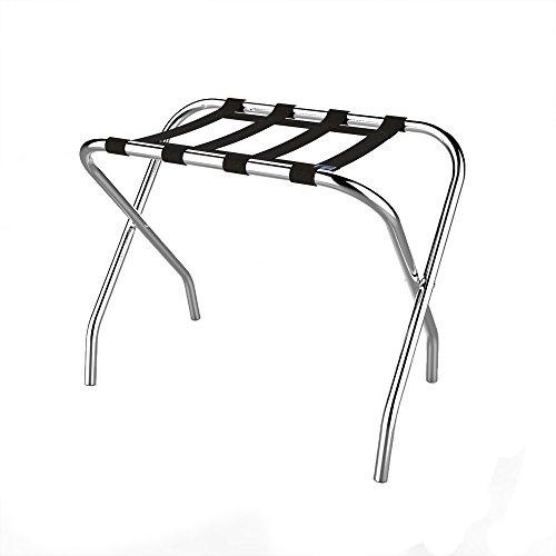 Lavish Home Chrome Folding Luggage Rack and Suitcase Stand- Durable Folding Bag Holder with Black Nylon Straps by Lavish Home (Image #2)