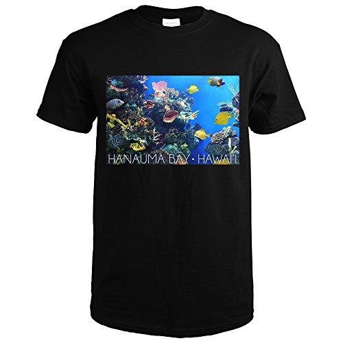 Hanauma Bay, Hawai'i - Fish and Coral 1 (Black T-Shirt - Black Coral Hawaii