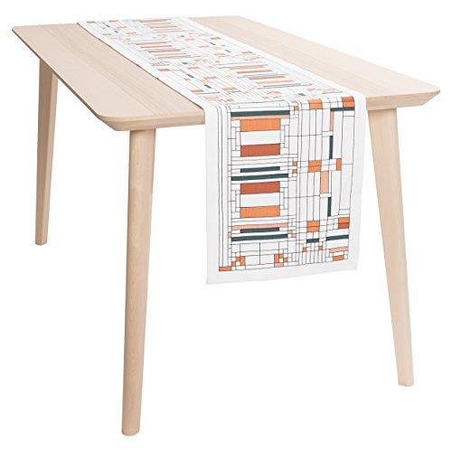 KAF Home Frank Lloyd Wright Printed Table Runner 14 x 72-inch 100-Percent Cotton (Oak Park) ()