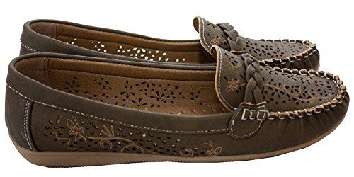 A&H Footwear  Stefanie,  Mädchen Damen Flats Braun