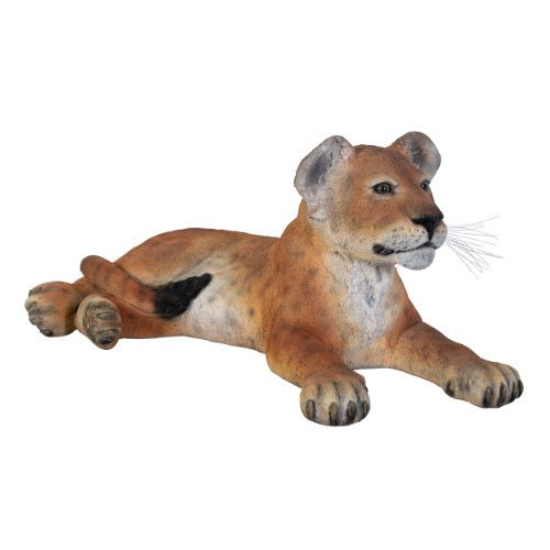 Grand Scale Lion Cub Statue Lying Down