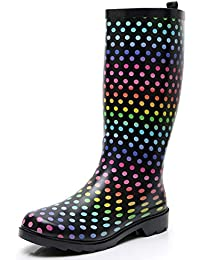 Women's Tall Rubber Rain Boots for Ladies Wide Calf Waterproof Anti Slip Garden Shoes Durable Insulated Snow Galoshes