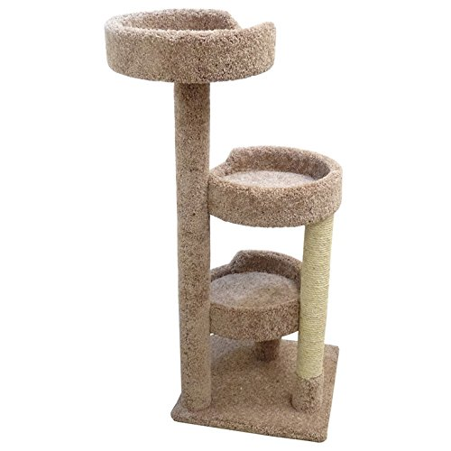 Cheap Cat Condos 50″ Premier Kitty Pad Cat Tree- Brown