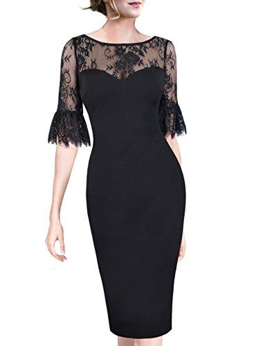 lace polka dot dress - 7