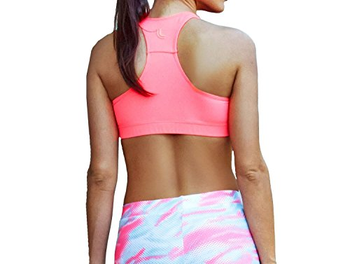 Lupo Women's Vented Sports Bra, X-Large Rose Pink