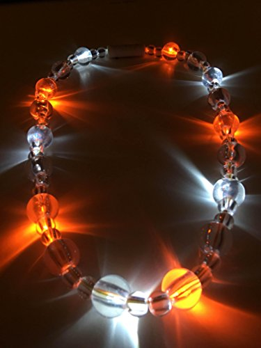 Rep Rope - Large Orange and White LED Necklace