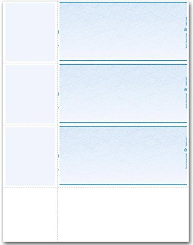 EGP Three to a Page Personal Sized Blank Check Stock