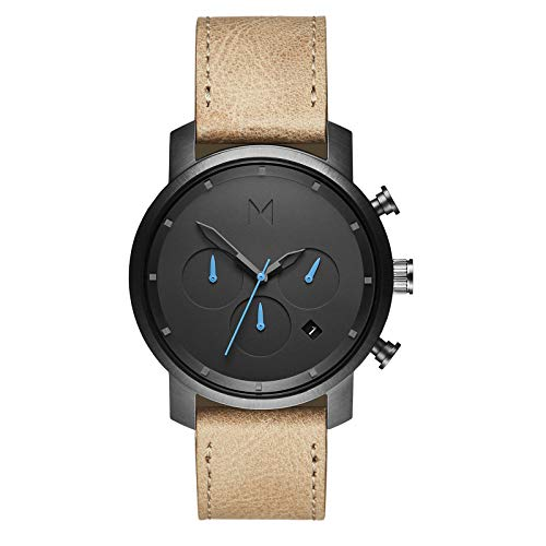 MVMT Chrono Watches | 40 MM Men's Analog Watch Chronograph | Gunmetal Sandstone