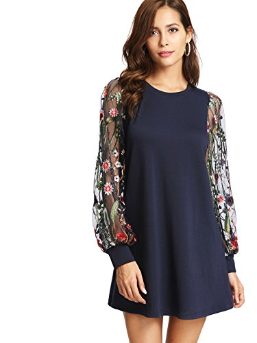 Tunic Dress with Embroidered sleeve