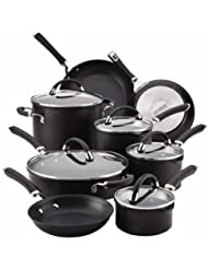 Circulon Circulon Premier Professional 13-piece Hard-anodized Cookware Set Black Exterior Stainless Steel Base