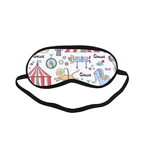 All Polyester Party Theme Cartoon Hand-Drawn Fresh Romantic Cute Sleeping Eye Masks&Blindfold by Simple Health with Elastic Strap&Headband for Adult Girls Kids and for Home Travel